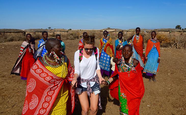 Anna v masajskej dedine