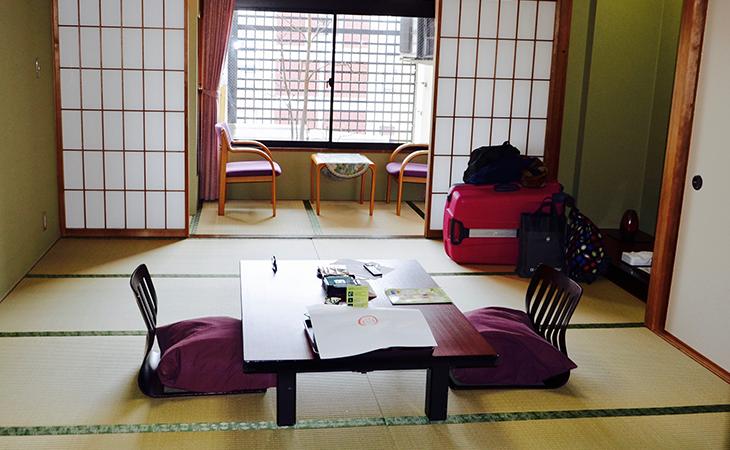 Interiér ryokanu
