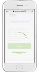Presmerovanie na digitálny podpis (dotykové zariadenie)