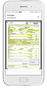 Prihláška je pripravená na digitálny podpis  (dotykové zariadenie)