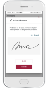 Digitálny podpis (dotykové zariadenie)