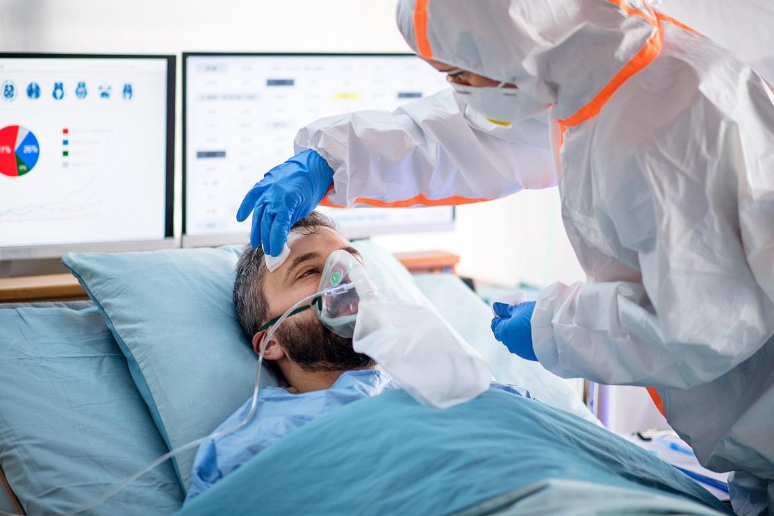 nezaočkovaný pacient s covidom