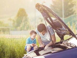 letná údržba auta