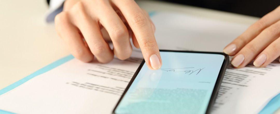 elektronický podpis pohybom prsta