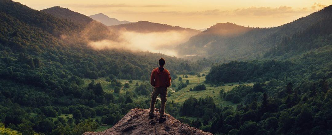 turista v horách